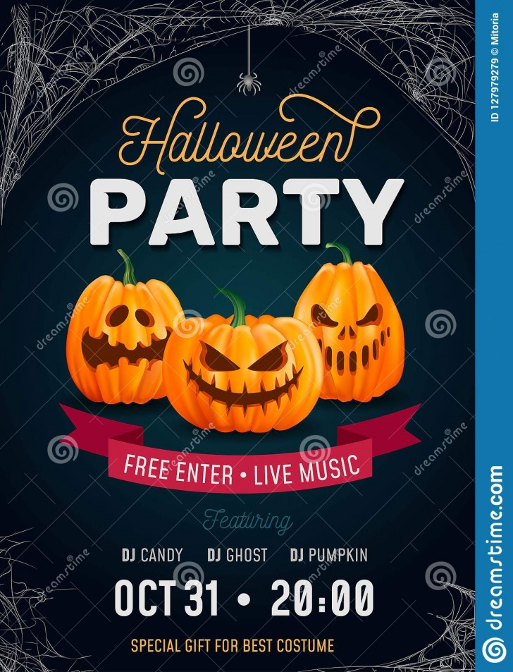 006 Singular Free Halloween Party Invitation Template Design  Printable Birthday For Word Download728
