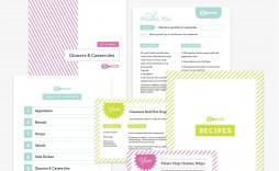 006 Singular Free Recipe Book Template High Resolution  Editable Cookbook For Microsoft Word Indesign