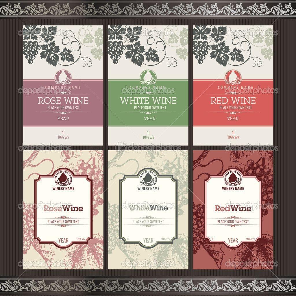 006 Singular Free Wine Bottle Label Template Concept  Mini PrintableLarge