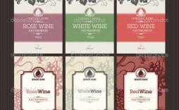 006 Singular Free Wine Bottle Label Template Concept  Mini Printable