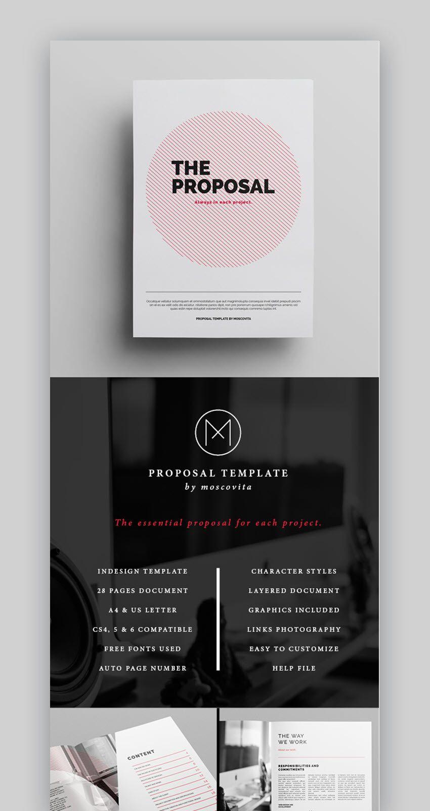 006 Singular Graphic Design Proposal Sample Inspiration  Pdf Free Template IndesignFull