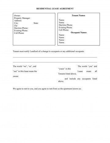 006 Singular Housing Rental Agreement Template Free High Definition 360