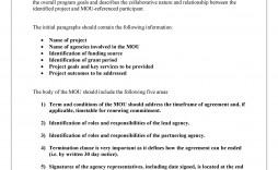 006 Singular Letter Of Understanding Sample Format Concept