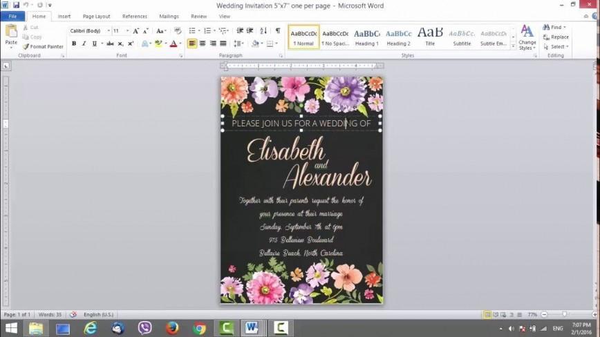 006 Singular Microsoft Office Wedding Invitation Template High Resolution  Templates M