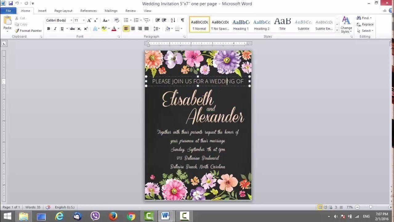 006 Singular Microsoft Office Wedding Invitation Template High Resolution  Templates MFull