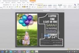 006 Singular Microsoft Word Birthday Invitation Template Photo  Editable 50th 60th