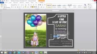 006 Singular Microsoft Word Birthday Invitation Template Photo  Editable 50th 60th320