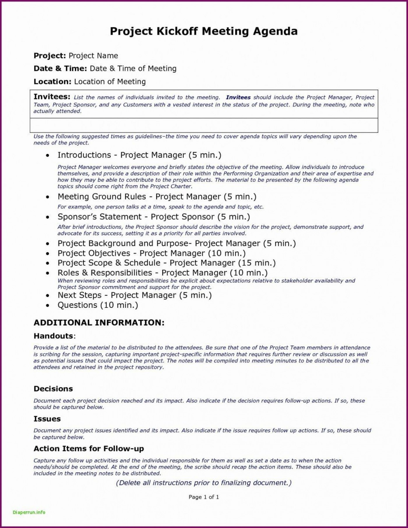 006 Singular Project Kickoff Meeting Template Excel Design 1400
