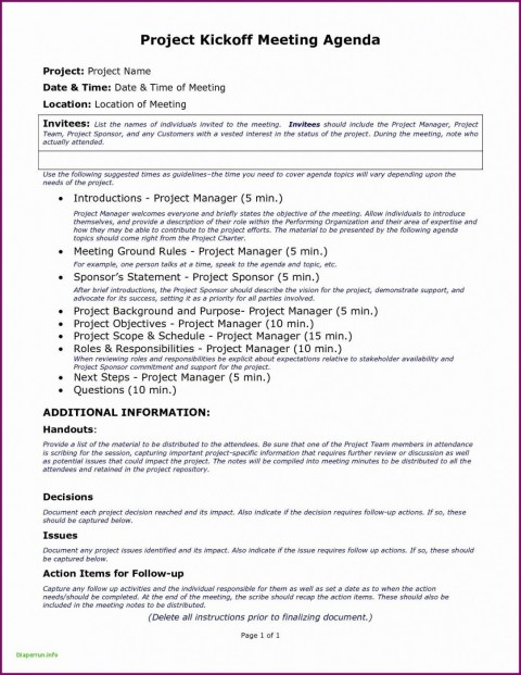 006 Singular Project Kickoff Meeting Template Excel Design 480