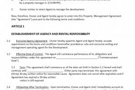 006 Singular Property Management Contract Template Free Concept  Uk