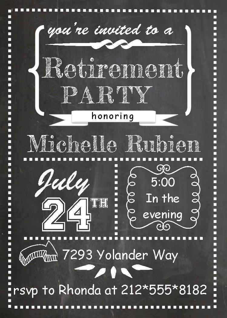 006 Singular Retirement Party Invitation Template Free Printable High Definition Full