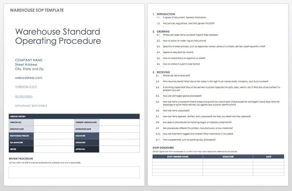 006 Singular Standard Operating Procedure Template Word Inspiration  Example Free Microsoft DownloadLarge