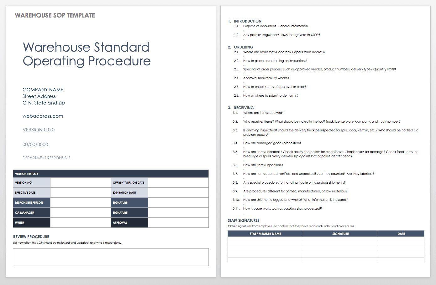 006 Singular Standard Operating Procedure Template Word Inspiration  Example Free Microsoft DownloadFull