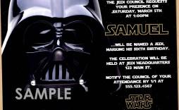 006 Singular Star War Birthday Invitation Template High Def  Free Party Printable