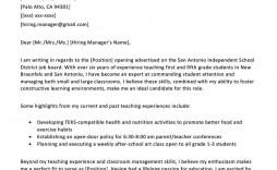 006 Singular Teacher Cover Letter Template Highest Quality  Teaching Job