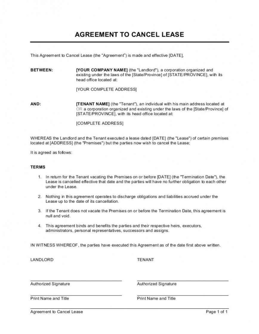 Lease Termination Letter Landlord To Tenant from www.addictionary.org