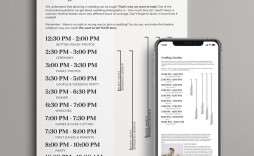 006 Singular Wedding Timeline Template Free Image  Day Download For Guest Pdf