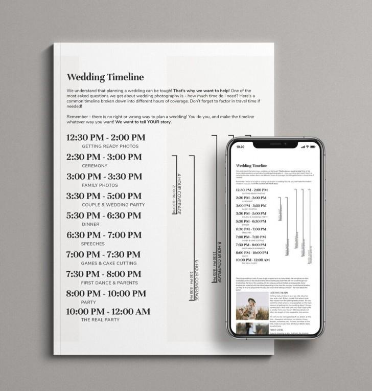 006 Singular Wedding Timeline Template Free Image  Day Excel Program728