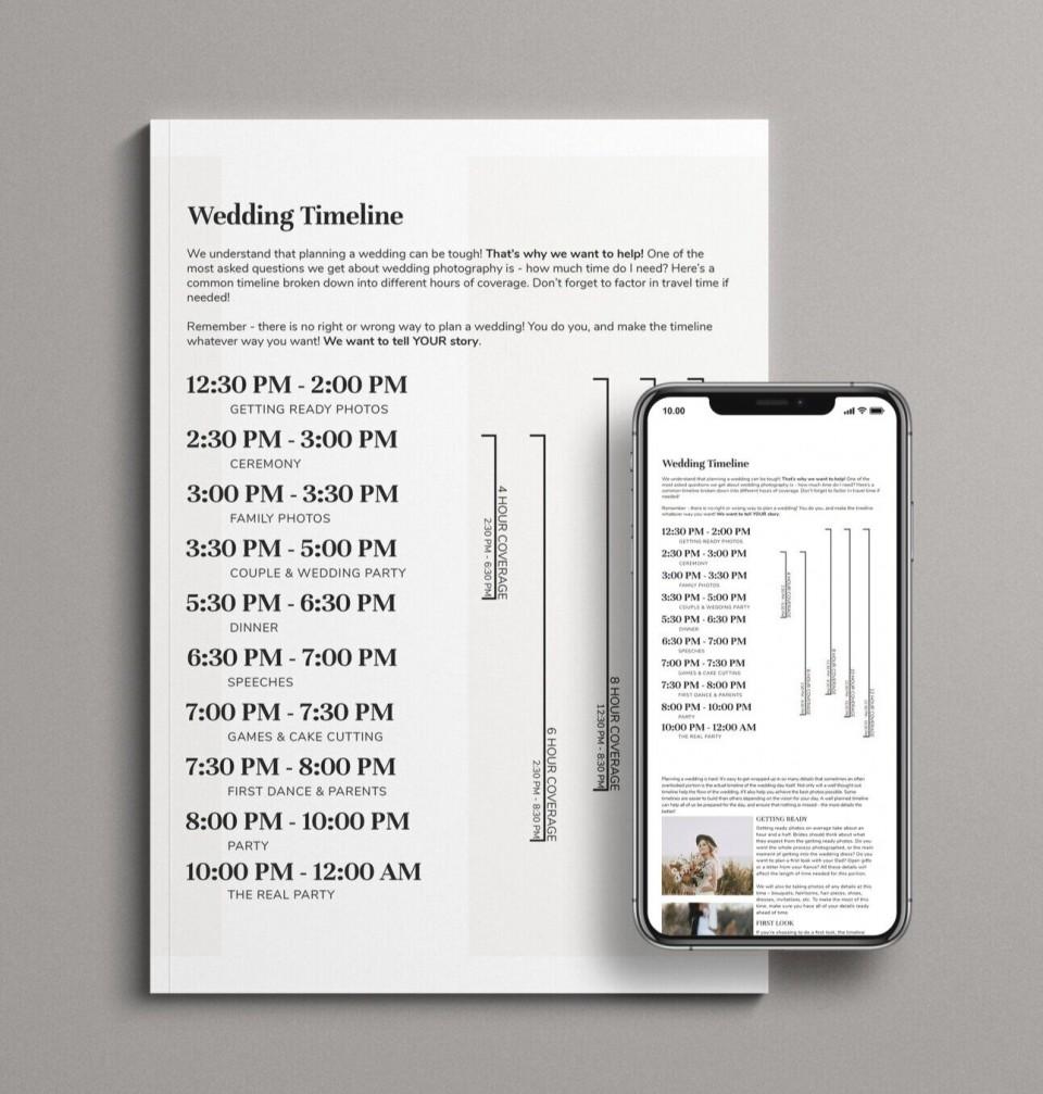 006 Singular Wedding Timeline Template Free Image  Day Excel Program960