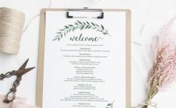 006 Singular Wedding Welcome Letter Template Free Highest Clarity  Bag