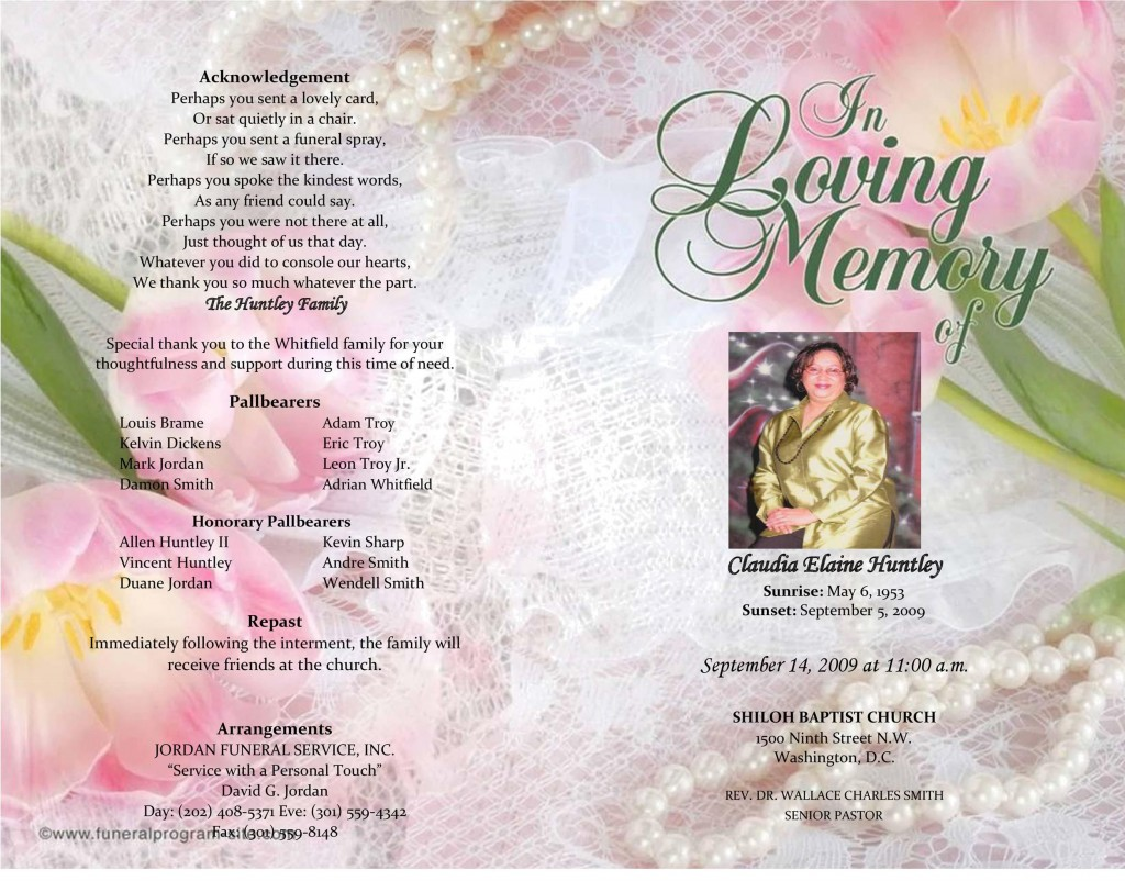006 Staggering Example Funeral Programme High Def  Format Of Program Template Free To DownloadLarge