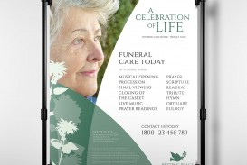 006 Staggering Free Celebration Of Life Brochure Template Design  Flyer