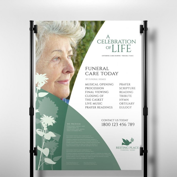 006 Staggering Free Celebration Of Life Brochure Template Design  Flyer728