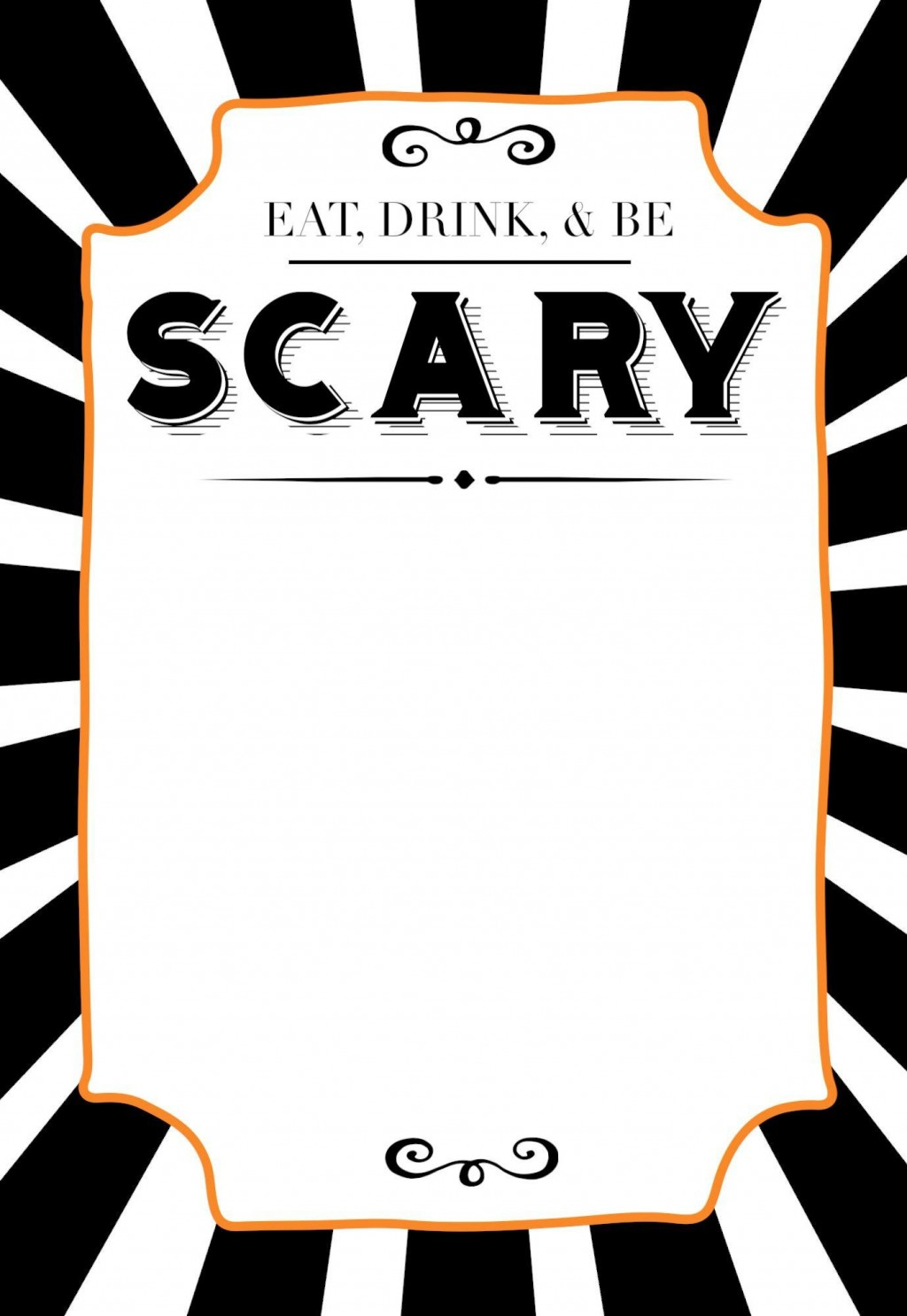 006 Staggering Free Halloween Invitation Template Printable Picture  Party BirthdayLarge