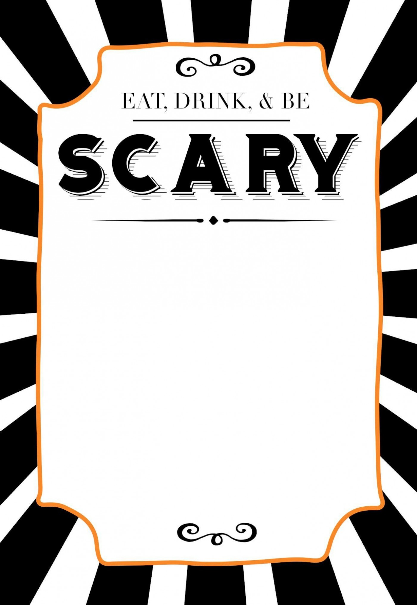 006 Staggering Free Halloween Invitation Template Printable Picture  Party Birthday1400