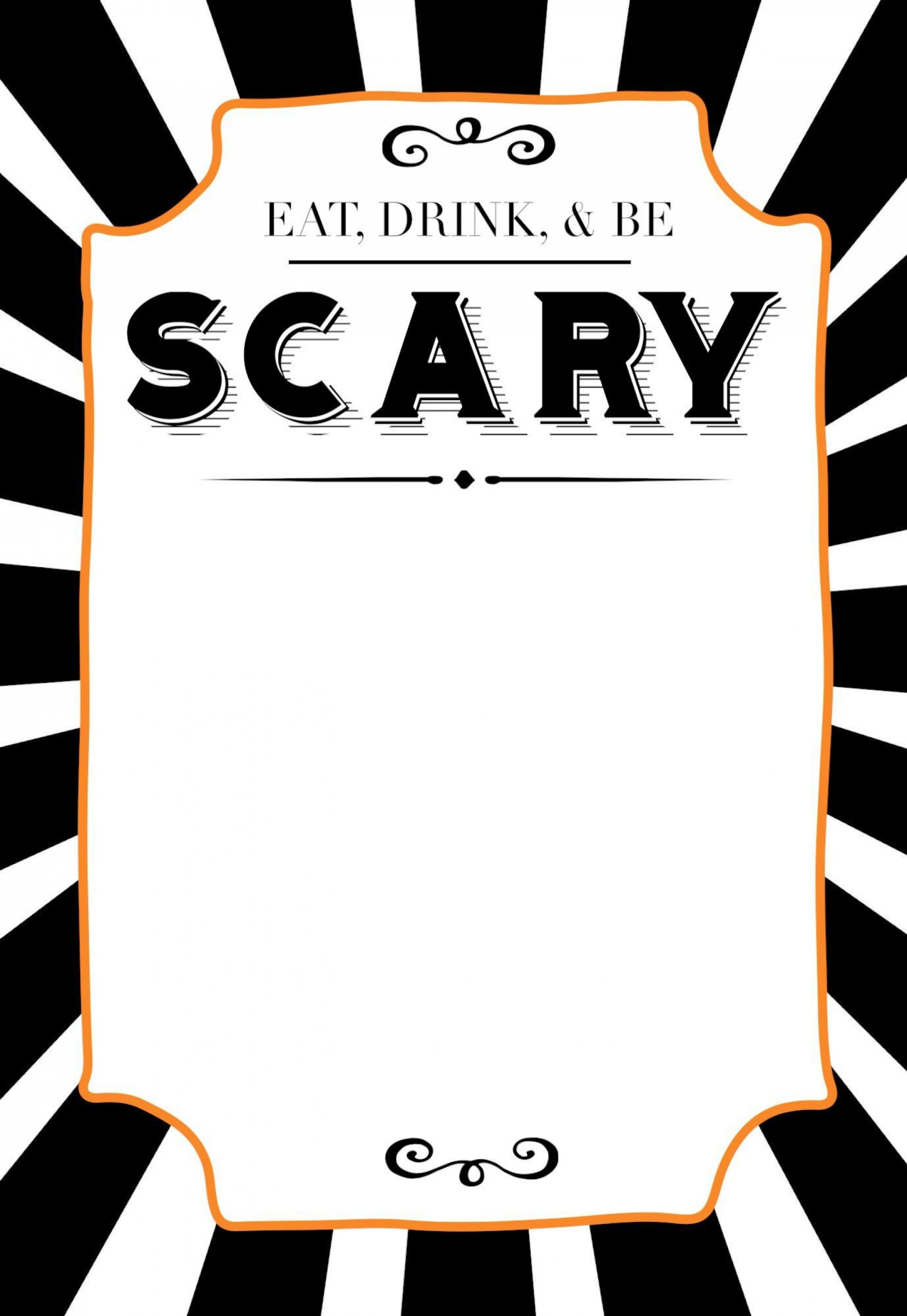 006 Staggering Free Halloween Invitation Template Printable Picture  Birthday Party1920