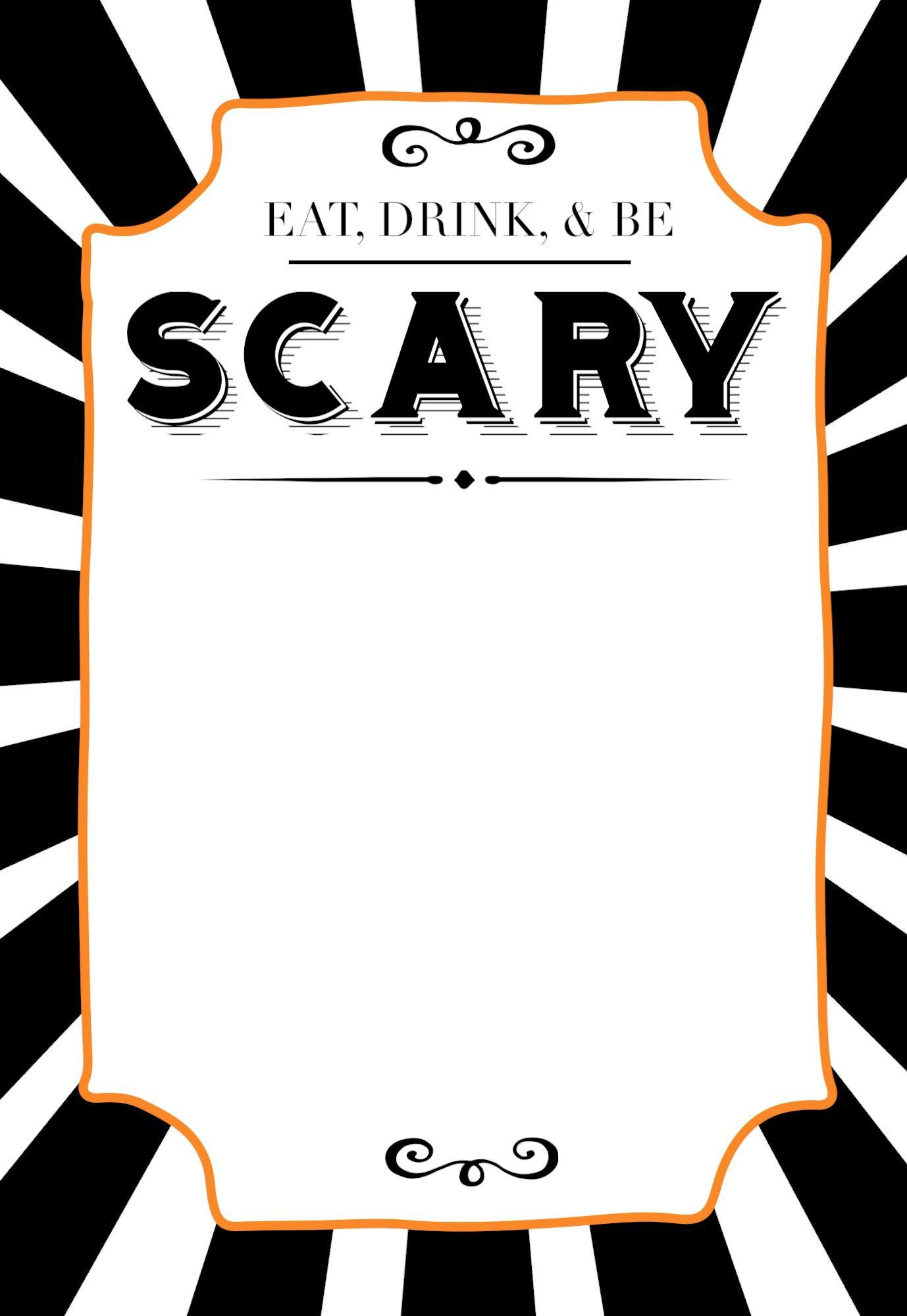 006 Staggering Free Halloween Invitation Template Printable Picture  Birthday PartyFull