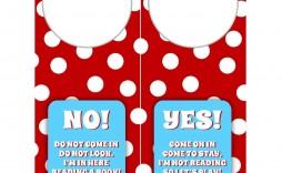 006 Staggering Free Printable Template For Door Hanger Design  Hangers