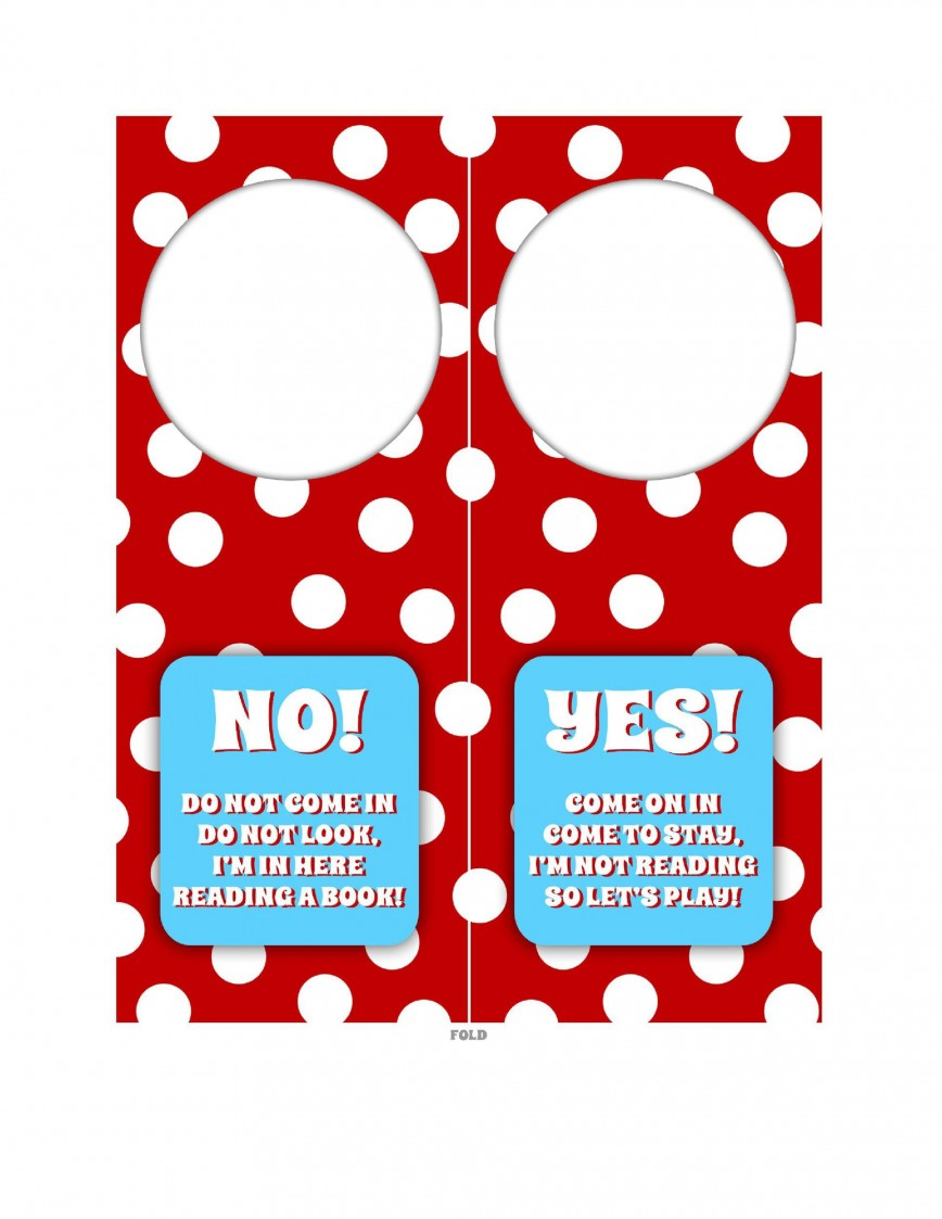 006 Staggering Free Printable Template For Door Hanger Design 868