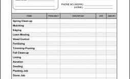006 Staggering Lawn Care Bid Template Example  Sheet Commercial Service Proposal Free