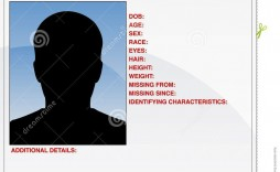 006 Staggering Missing Person Poster Template Word High Def