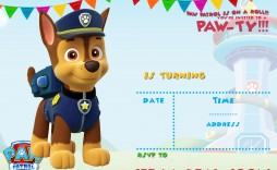 006 Staggering Paw Patrol Birthday Invitation Template Example  Party Invite Wording Skye Free