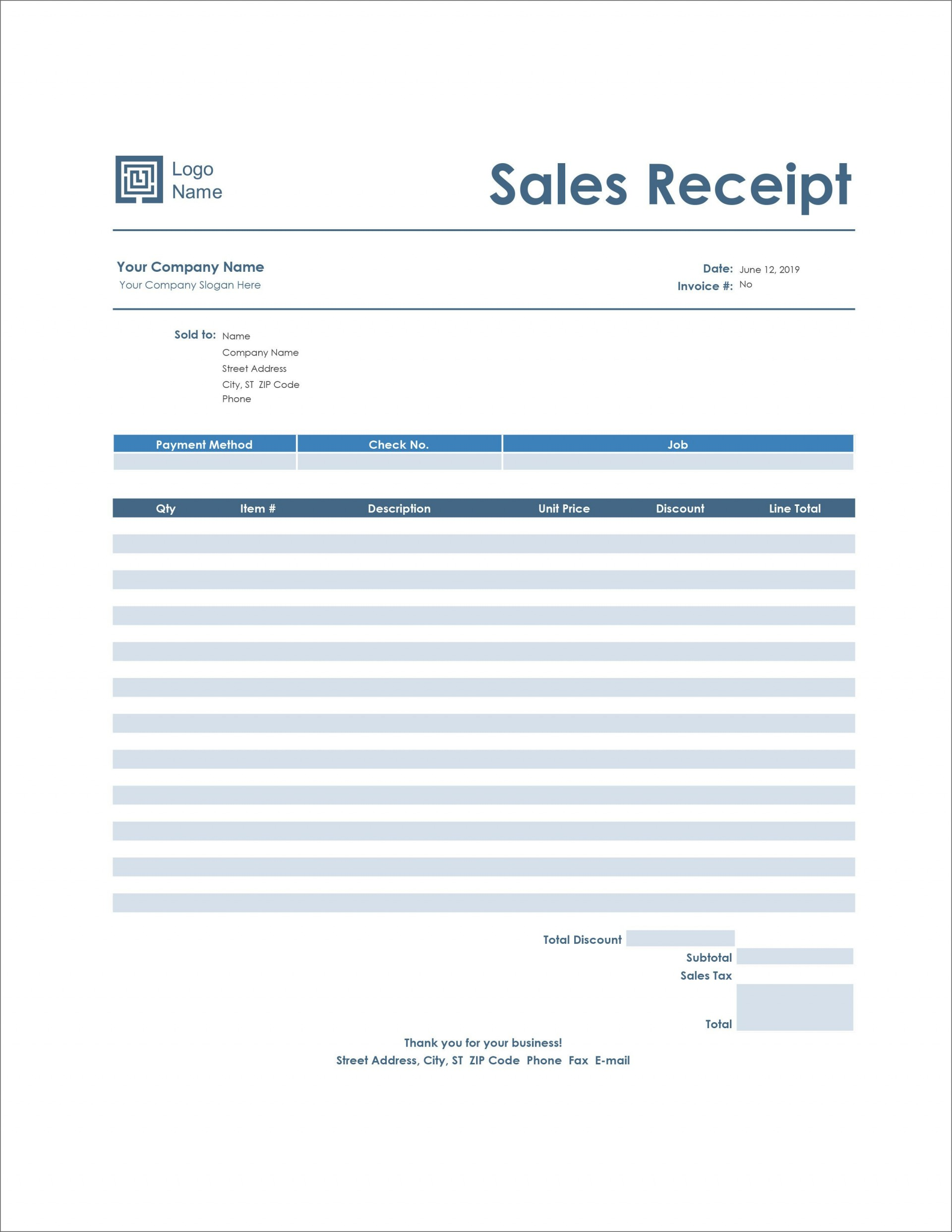 006 Staggering Receipt Template Microsoft Word Design  Payment Sample Invoice1920