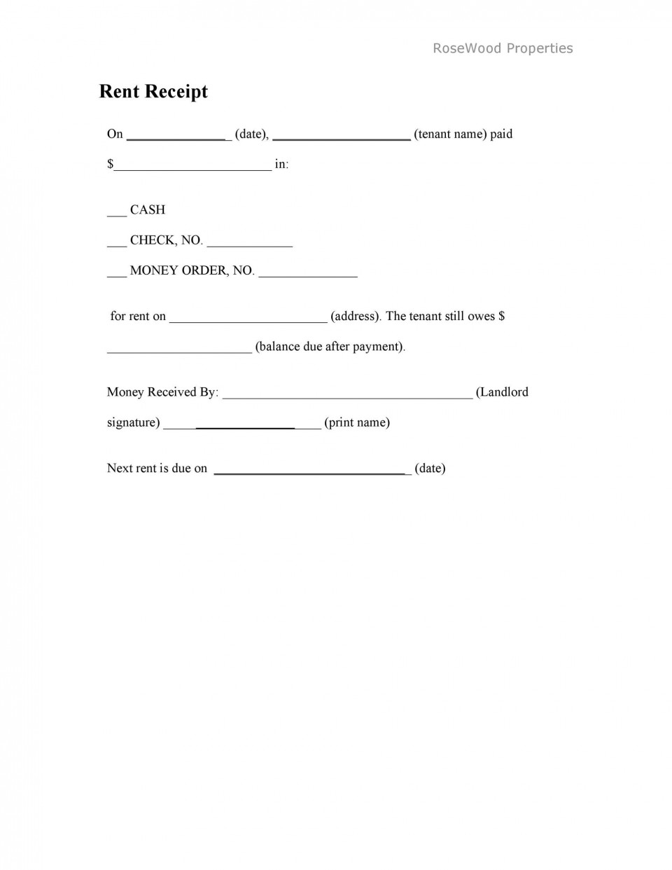 006 Staggering Rent Receipt Sample Doc Highest Quality  Template India Format Free Download960