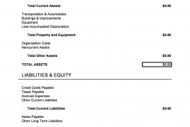 006 Staggering Simple Balance Sheet Template Sample  Example For Small Busines A Church