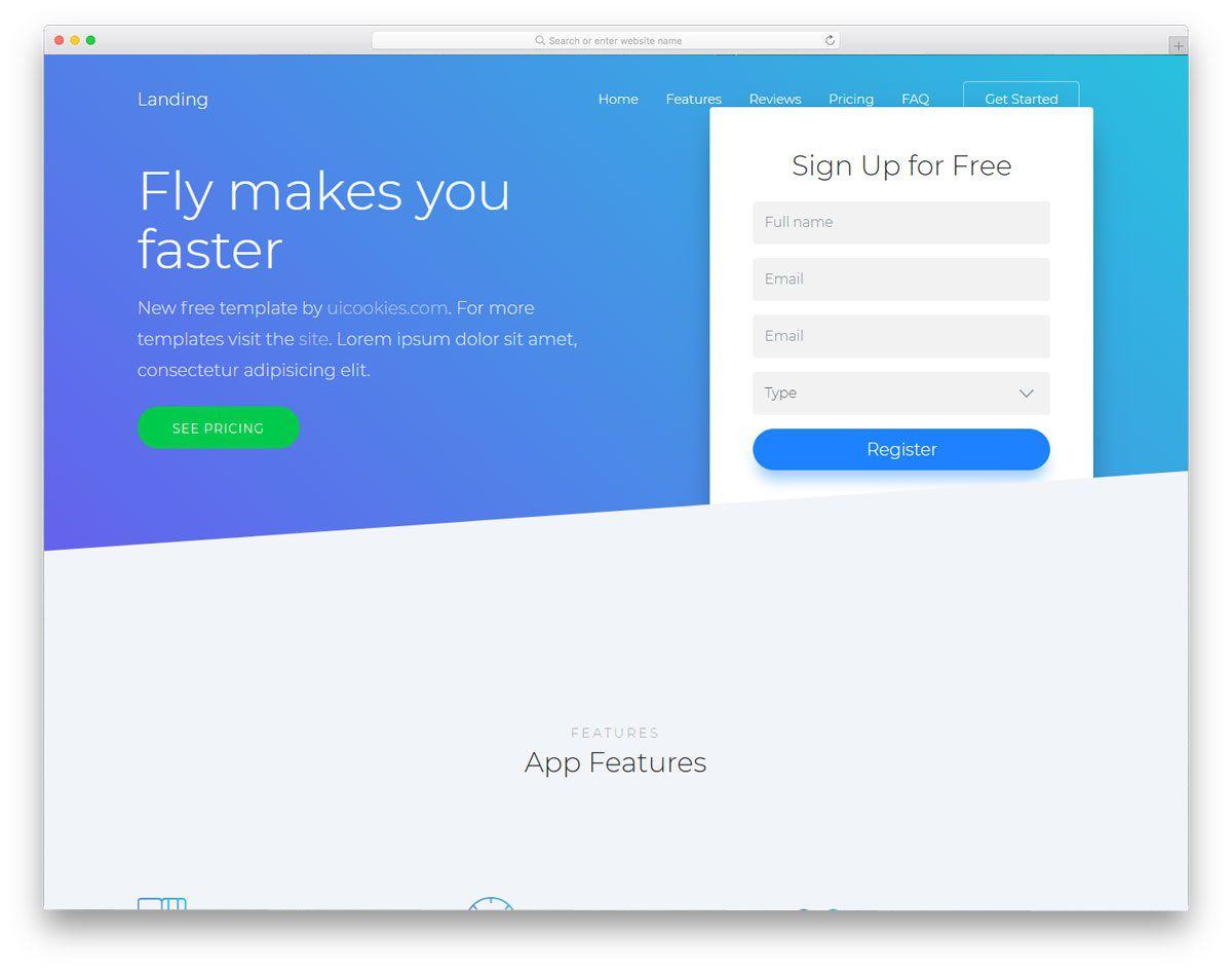 006 Staggering Simple Landing Page Template High Def  Html Bootstrap FreeFull