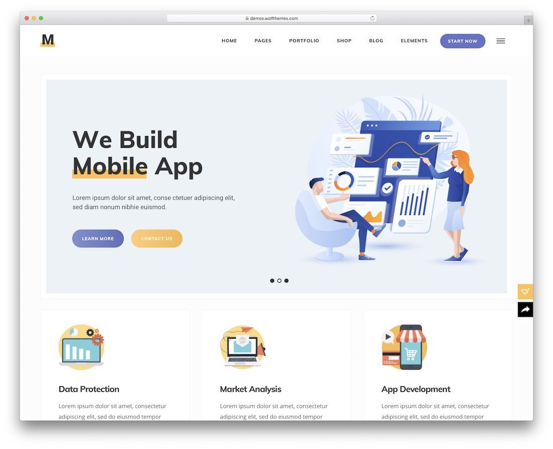 006 Staggering Single Page Website Template Design  Templates Free Download One HtmlFull