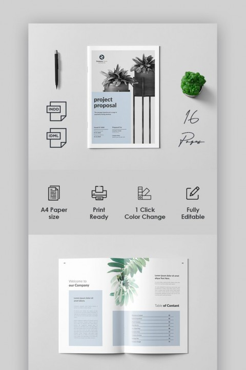 006 Staggering Social Media Proposal Template 2019 Sample 480