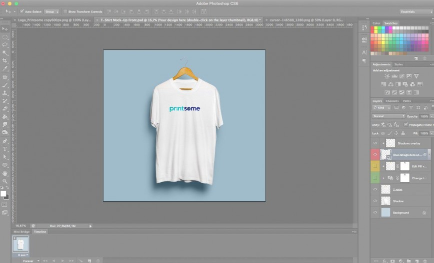 006 Staggering T Shirt Design Template Psd Idea  Blank T-shirt Free Download Layout Photoshop868