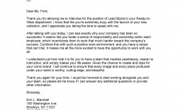 006 Staggering Thank You Note Template Interview Sample  Letter After Example Job Residency