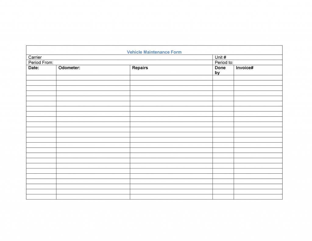 006 Staggering Vehicle Maintenance Log Template High Resolution  Microsoft CarLarge