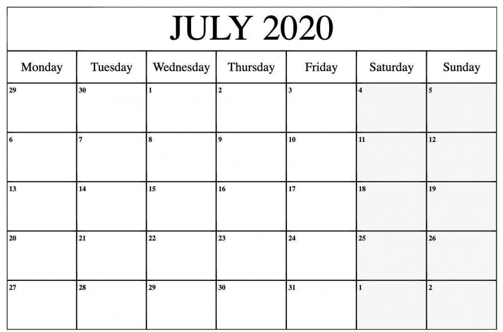 006 Stirring 2020 Monthly Calendar Template Idea  Templates Word Australian FreeLarge