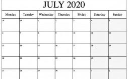 006 Stirring 2020 Monthly Calendar Template Idea  Templates Word Australian Free