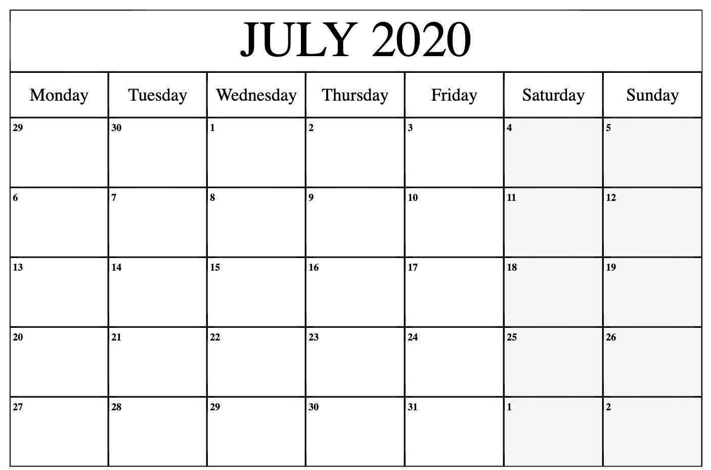006 Stirring 2020 Monthly Calendar Template Idea  Templates Word Australian FreeFull
