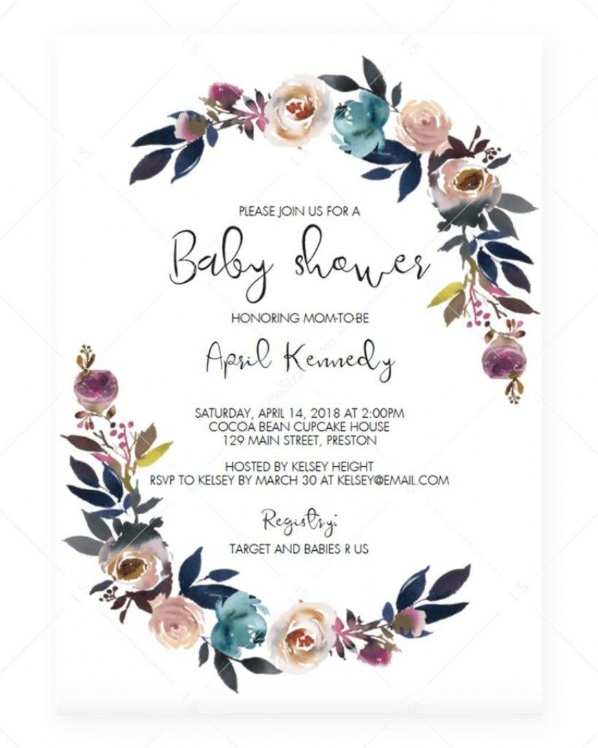 006 Stirring Baby Shower Invitation Card Template Free Download Idea  IndianFull