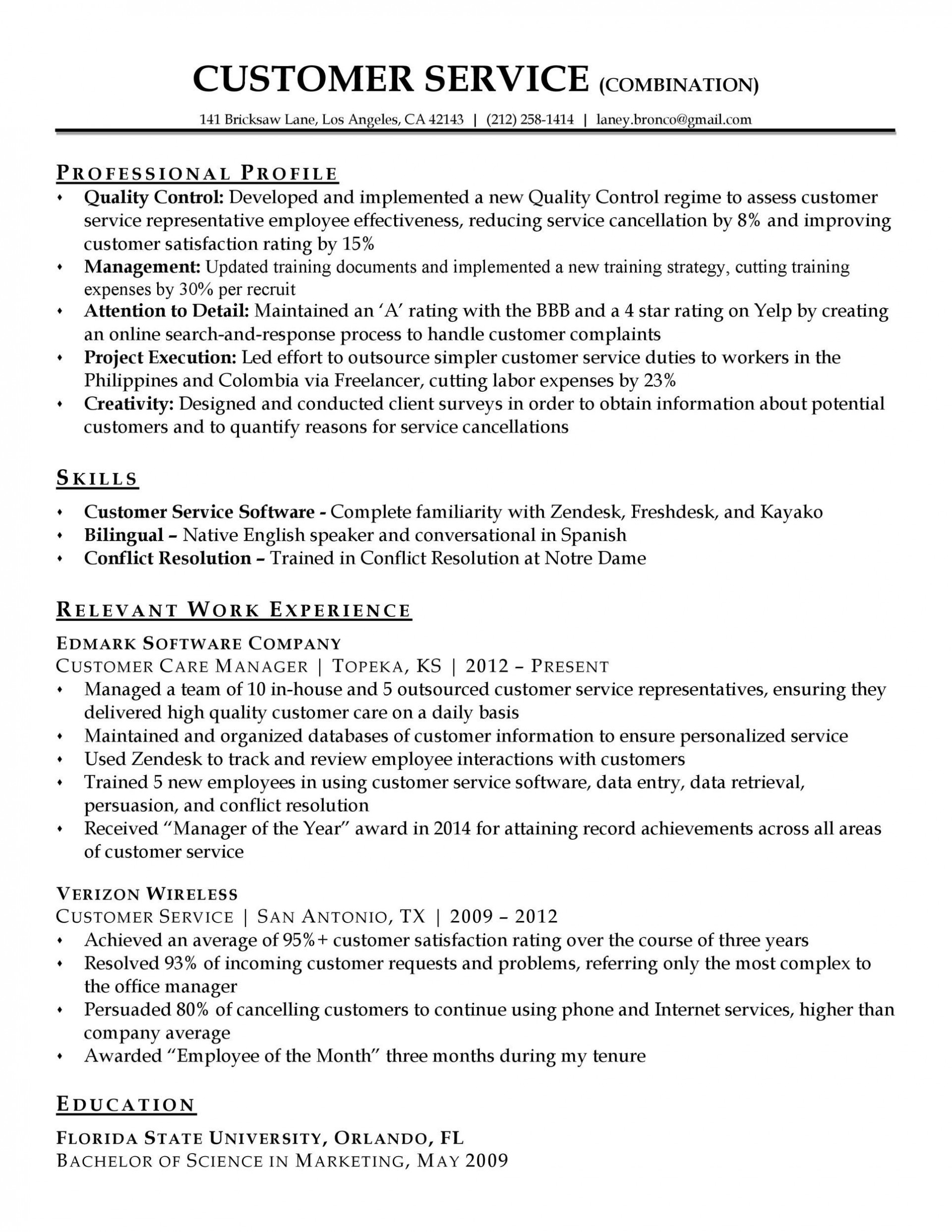 006 Stirring Customer Service Resume Template Image  Cv1920
